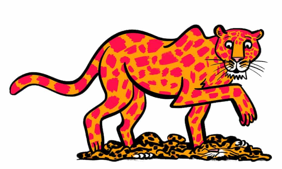 Illustration of a leopard changing its spots
