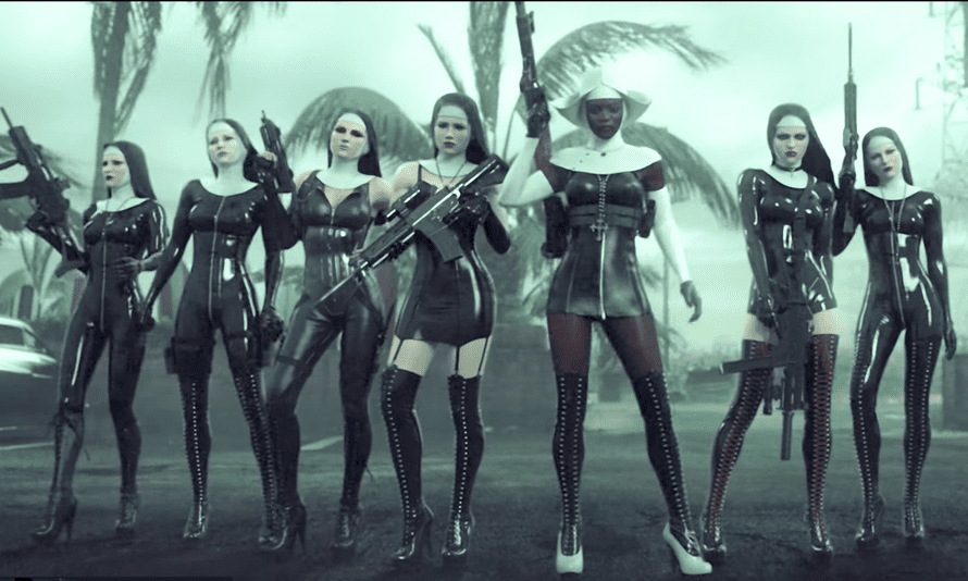 The sexy nun assassins known as The Saints depicted n Hitman: Absolution are typical of the off balance depiction of women in games.