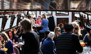 Guests onboard Gs Brunch Boat, Amsterdam