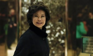Elaine Chao arrives at Trump Tower to meet with Donald Trump in November.