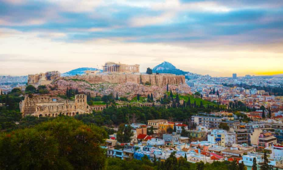 The Acropolis in the early morning sun, Athens, Greece