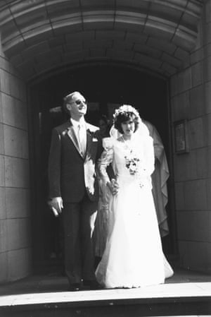 Ron McCallum and Mary Crock on their wedding day