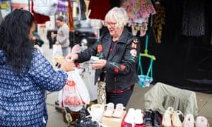 Stallholder Barbara Davis at Rochdale Market