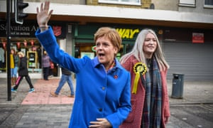 Nicola Sturgeon campaigns with the SNP candidate for East Dunbartonshire, Amy Callaghan