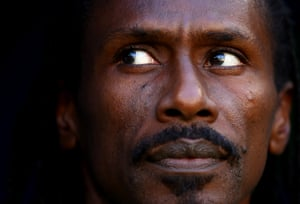 Aliou Cissé, head coach of Senegal, looks on prior to his team's Group H match with Colombia in Samara.
