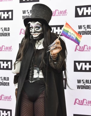 Miles Jai dressed as The Babadook at RuPaul's Drag Race Season 9 finale.
