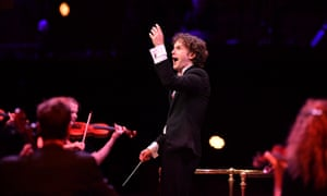'Light and lithe' … Nicholas Collon conducts the Aurora orchestra at the Proms.