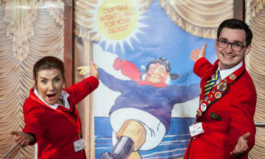 Rachel Benson and Christopher Arkeston in Redcoats, Mikron's play about Butlin's.