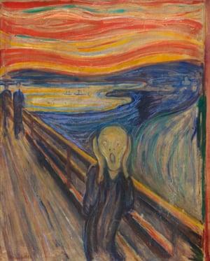 Scream or Cry, 1893, by Edvard Munch