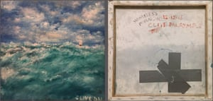Front and back views of the painting by Clive Dalrymple purchased by Katy Cavanagh.