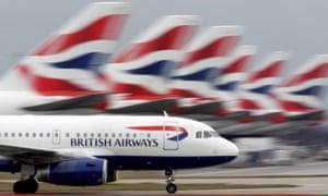 British Airways plane lands at Heathrow