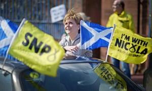 Nicola Sturgeon meets voters in her constituency