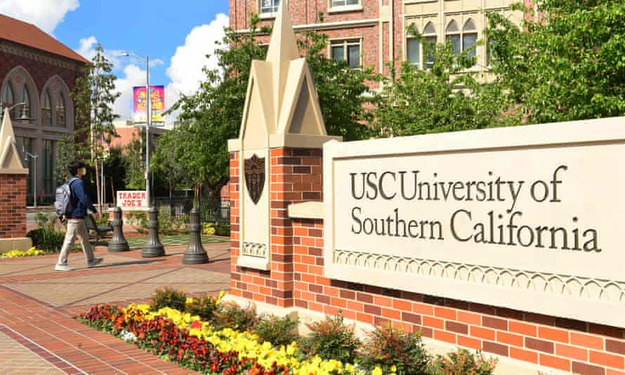 The University of Southern California in Los Angeles. When combined with an earlier settlement of a separate class-action suit, the school has agreed to pay out more than $1bn for claims against Dr George Tyndall.