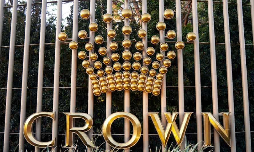 The Crown logo on the Perth casino