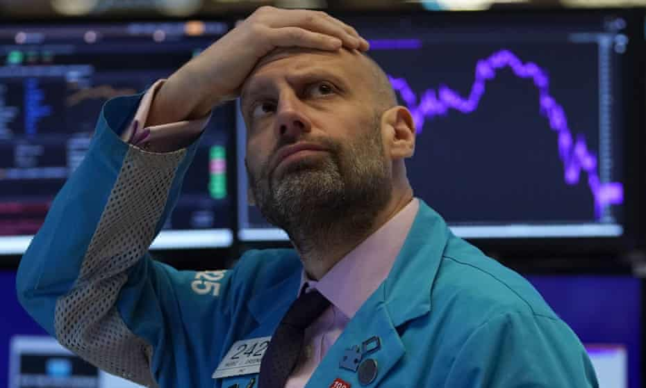 A trader on the floor of the New York Stock Exchange this month.