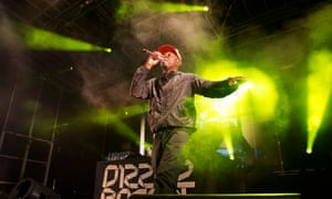 A compact ball of energy … Dizzee Rascal at Hastings Pier.
