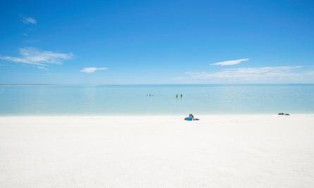 Shell Beach in Shark Bay area of Western Australia