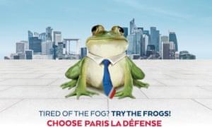 Advert for La Défense advert aimed at Brirish firms.