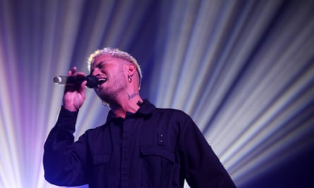 Stan Walker performs during Good Vibes 2020 in Auckland.