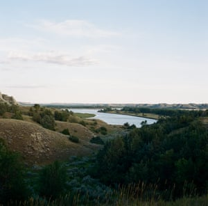 A view of the Missouri River near Fort Peck Indian reservation in Northeastern Montana.