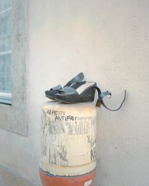 Abandoned shoes in Alfama, Lisbon.