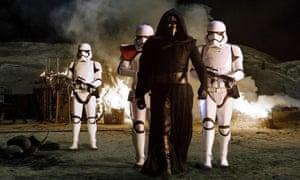 'Spectre of Vader': Kylo Ren (Adam Driver) in Star Wars: The Force Awakens.