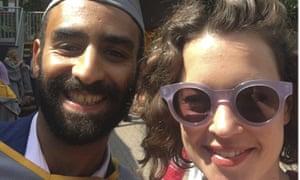 Karim Ennarah and Jess Kelly. Photograph AP