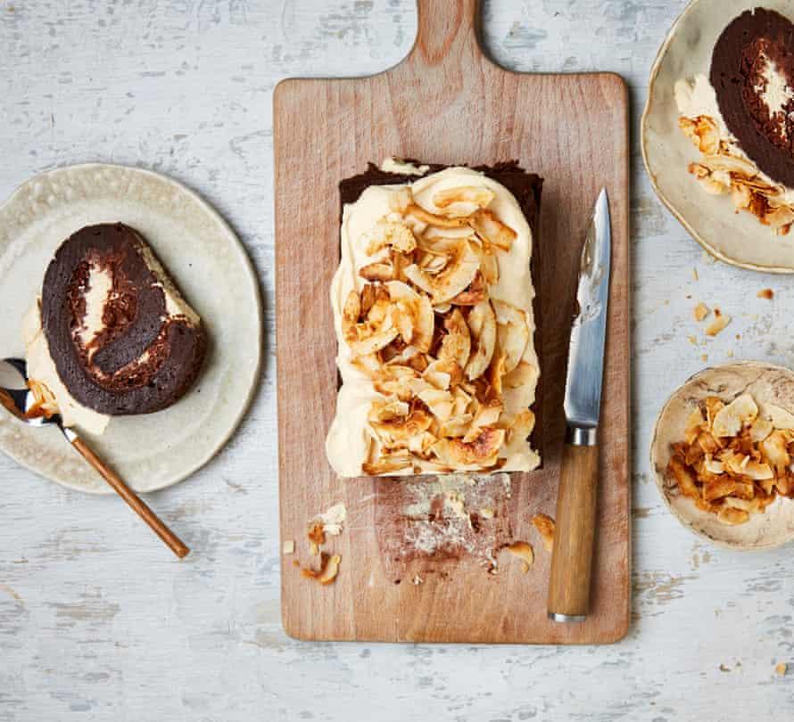 Yotam Ottolengh's Chocolate Coconut Mochi Roll.