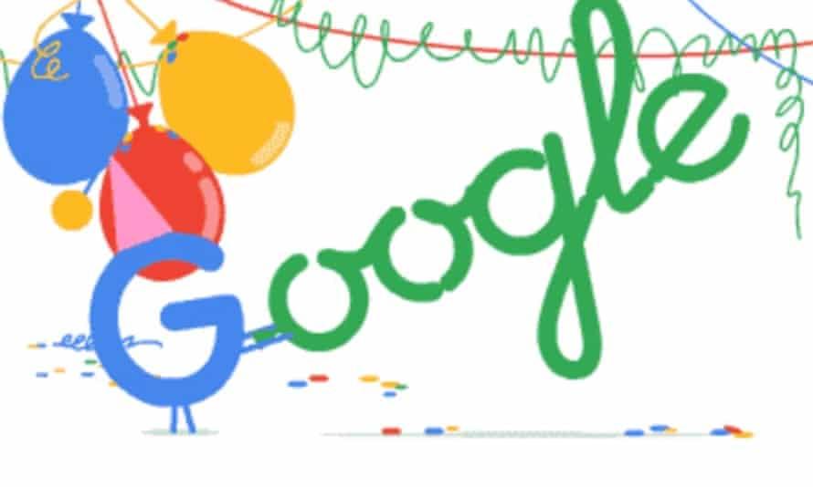 Google's birthday doodle