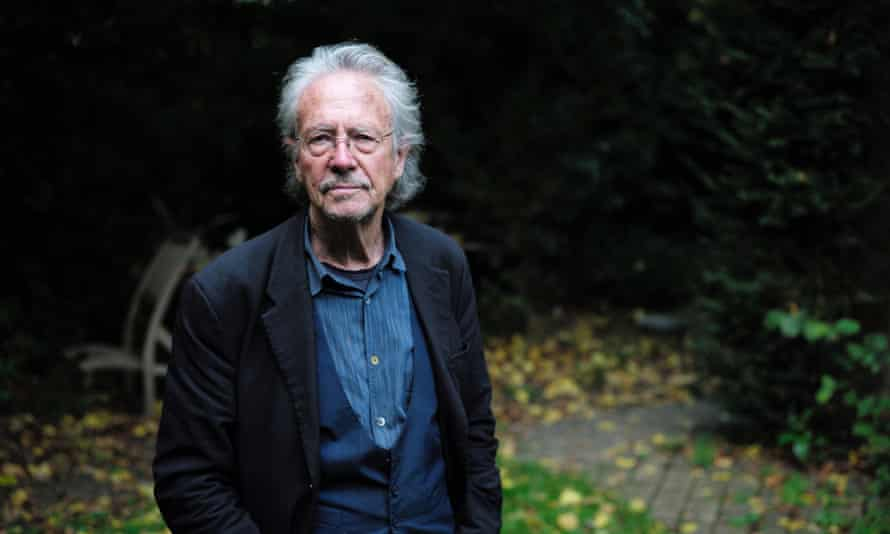Peter Handke at his home in Chaville, France, after winning the Nobel prize.