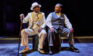 Rags and riches … Joseph Mydell and Wendell Pierce in Death of a Salesman.