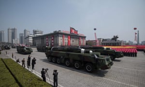 A north korea military parade