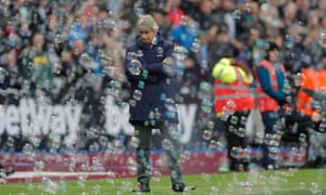 Manuel Pellegrini's position at West Ham is under increasing threat after a dismal run of results.