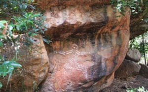 Indigenous rock art around Nourlangie, in Kakadu national park.