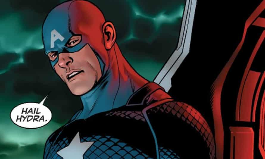 Captain America hails Hydra in Steve Rogers: Captain America #1 by Nick Spencer and Jesus Sais.