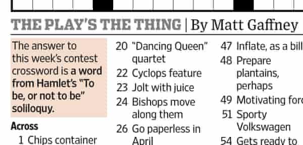 Wall Street Journal crossword, 9 April 2021