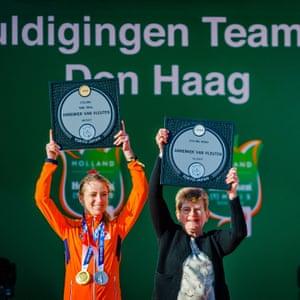 Cyclist Annemiek van Vleuten and her mother Ria