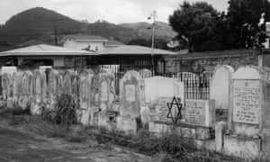 The Jewish section of Mucurapo graveyard in Port of Spain, Trinidad.