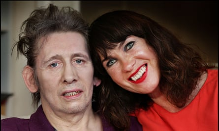 Shane MacGowan with longtime partner Victoria Mary Clarke at their home in Dublin.