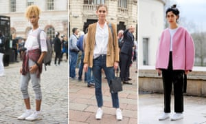 Trainer cool … fashion-week street style in London Milan and Paris