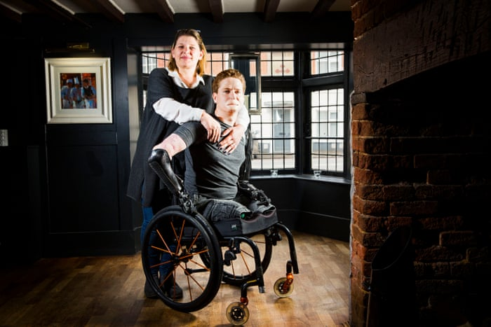 Alex Lewis Losing My Limbs Made Me Realise What I Had Stephen Moss Television Radio The Guardian