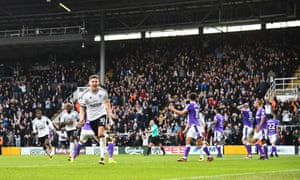 The Fulham captain Tom Cairney celebrates scoring his late equalising goal against Bolton.