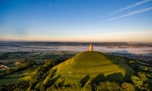 Glastonbury Tor at sunrise