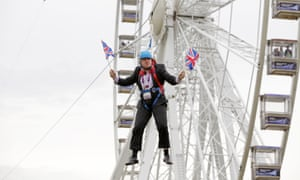 Boris Johnson stuck on a zip-line in 2012