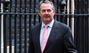 Liam Fox in Downing Street