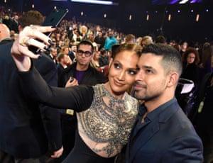 Jennifer Lopez and Wilmer Valderrama take a selfie