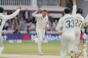 Peter Siddle gets Rory Burns caught behind.