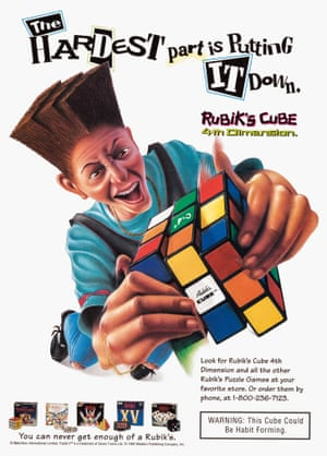 Matchbox International, 1992  Rubik's Cube advert from the book Toys: 100 Years of All-American Toy Ads (£30) by Jim Heimann and Steven Heller is published by Taschen.