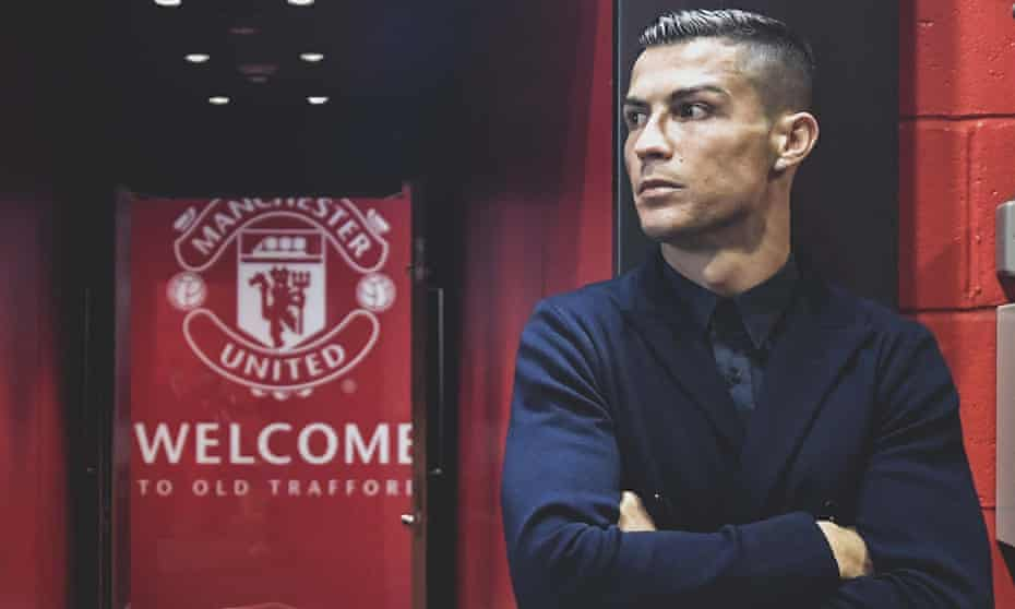 Cristiano Ronaldo spent six seasons at Manchester United before moving to Real Madrid and then Juventus.