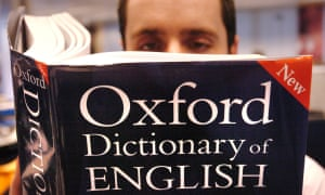 a volume of the Oxford English Dictionary.